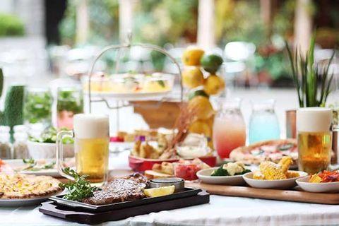 Meal, Brunch, Food, Breakfast, Dish, Cuisine, Table, À la carte food, Finger food, Buffet,