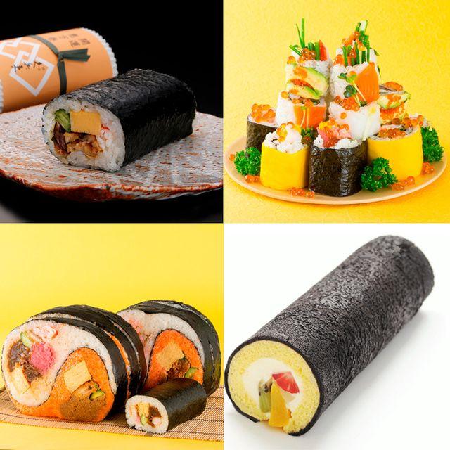 Gimbap, Sushi, Dish, Cuisine, Food, California roll, Comfort food, Japanese cuisine, Ingredient, À la carte food,