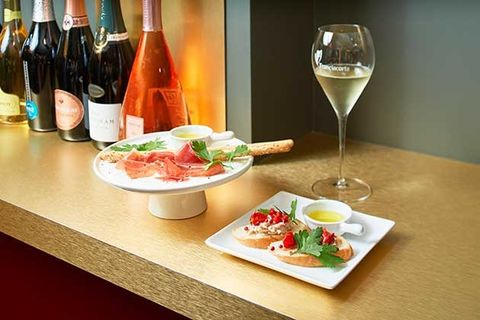 Food, Dish, Wine glass, Cuisine, Ingredient, Stemware, À la carte food, Wine, Meal, Drink,
