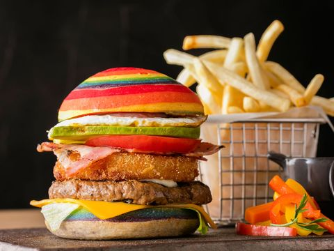 Food, Junk food, Hamburger, Fast food, Dish, Cheeseburger, Veggie burger, Cuisine, Ingredient, Burger king premium burgers,