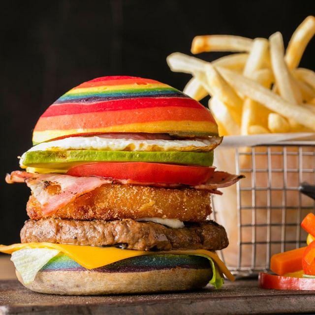 Food, Junk food, Hamburger, Fast food, Dish, Cheeseburger, Veggie burger, Cuisine, Ingredient, Burger king premium burgers,