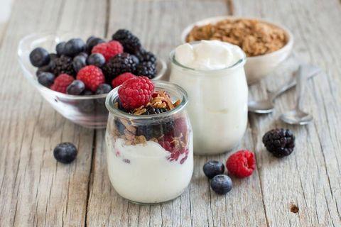 Food, Cuisine, Dish, Ingredient, Breakfast, Dessert, Berry, Breakfast cereal, Vegetarian food, Meal,