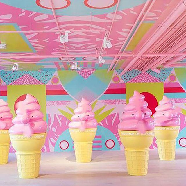 Ice cream cone, Frozen dessert, Ice cream, Soft Serve Ice Creams, Cone, Pink, Dessert, Food, Dairy, Gelato,