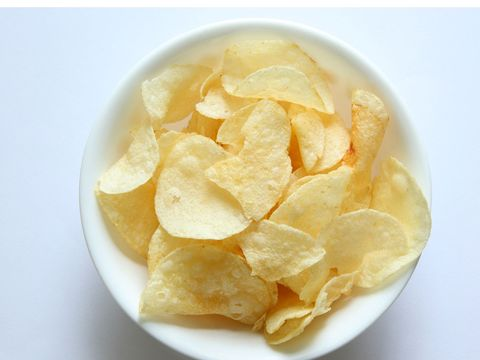 Junk food, Food, Potato chip, Dish, Cuisine, Snack, Yellow, Ingredient, Side dish, Produce,