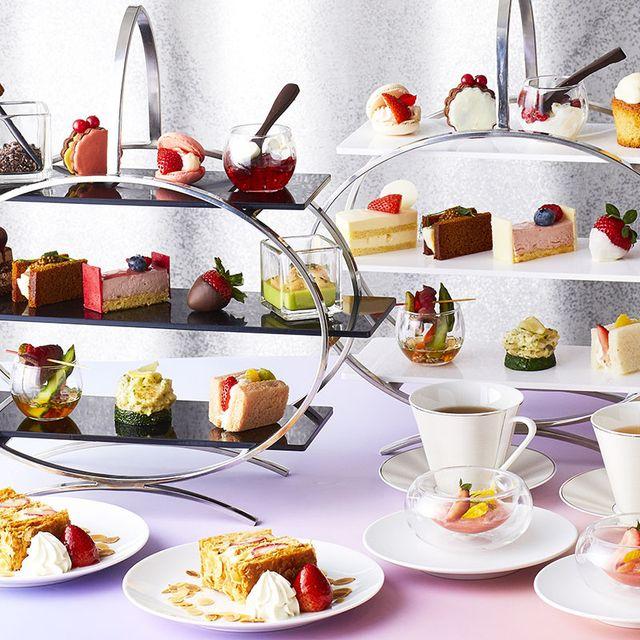 Porcelain, Dishware, Tableware, Serveware, Tea set, Food, Brunch, Teacup, Meal, Plate,