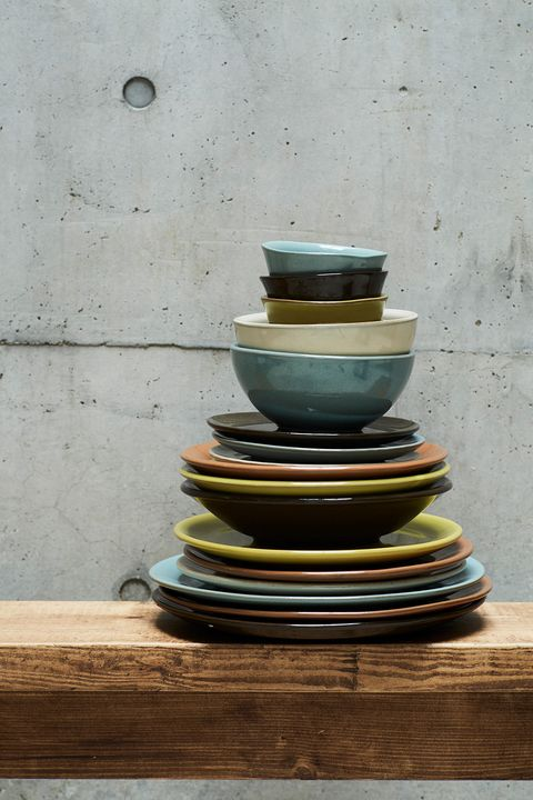 Blue, Green, Yellow, Ceramic, Dishware, earthenware, Pottery, Still life photography, Serveware, Plate,