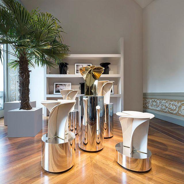 Furniture, Room, Property, Table, Floor, Interior design, Bar stool, Stool, Wood flooring, Flooring,