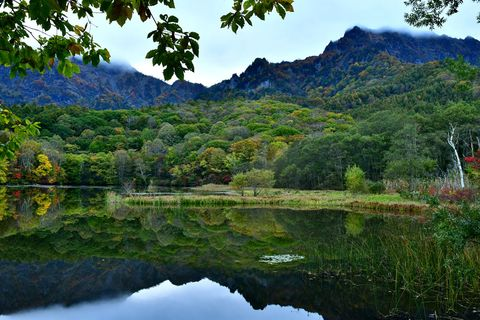 Nature, Natural landscape, Reflection, Water, Vegetation, Water resources, Sky, Mountain, Lake, Wilderness,