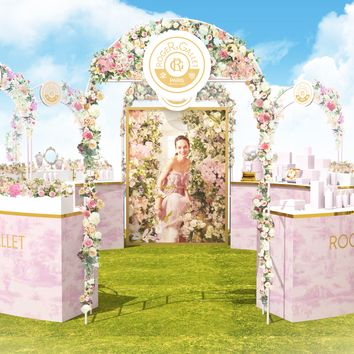 Arch, Architecture, Pink, Furniture, Room, Event, Illustration,