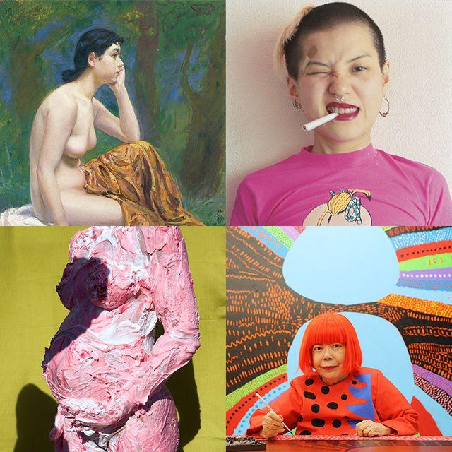 Collage, Illustration, Pink, Art, Visual arts, Neck, Junk food, Photography, Photomontage, Flesh,