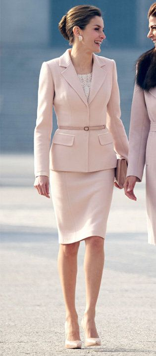 Clothing, White, Fashion model, Fashion, Pink, Dress, Suit, Beige, Formal wear, Skin,