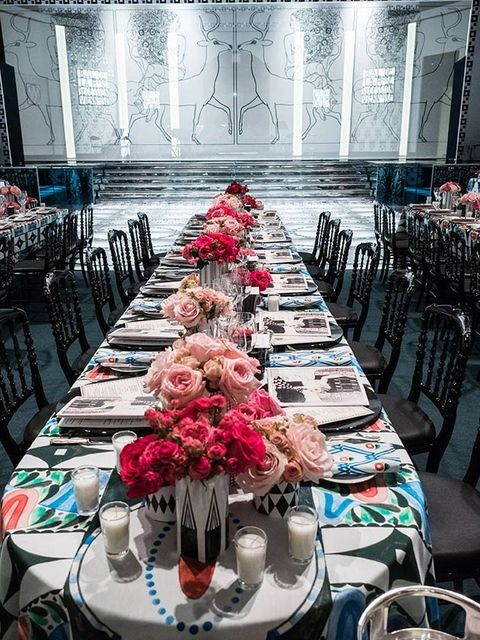 Red, Pink, Flower, Chiavari chair, Table, Centrepiece, Chair, Rehearsal dinner, Textile, Plant,