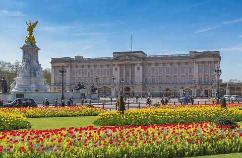 Landmark, Flower, Palace, Garden, Architecture, Spring, Plant, Official residence, Tulip, Building,