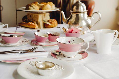 Teacup, Cup, Porcelain, Saucer, Pink, Tableware, Serveware, Cup, Tea party, Coffee cup,