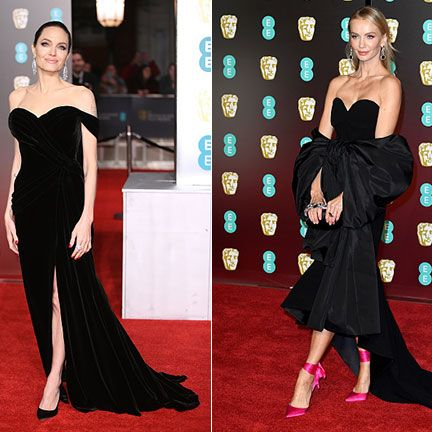 Dress, Fashion model, Clothing, Shoulder, Carpet, Red carpet, Gown, Flooring, Fashion, Strapless dress,