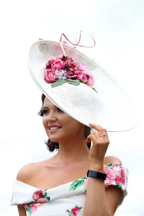 White, Clothing, Hat, Pink, Fashion accessory, Sun hat, Costume hat, Headgear, Headpiece, Costume accessory,