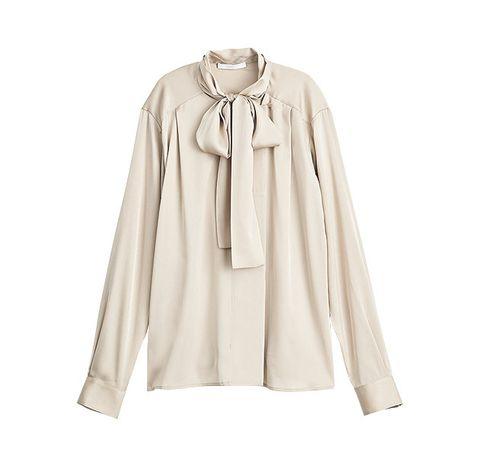 Clothing, Outerwear, Sleeve, Collar, Beige, Blouse, Top, Neck, Shirt, Button,