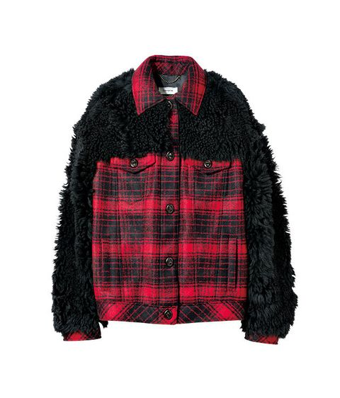Plaid, Clothing, Tartan, Pattern, Jacket, Black, Outerwear, Red, Sleeve, Textile,