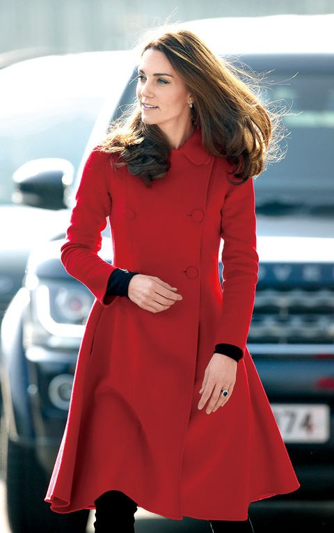 Clothing, Coat, Overcoat, Red, Outerwear, Fashion, Trench coat, Dress, Fashion model, Sleeve,