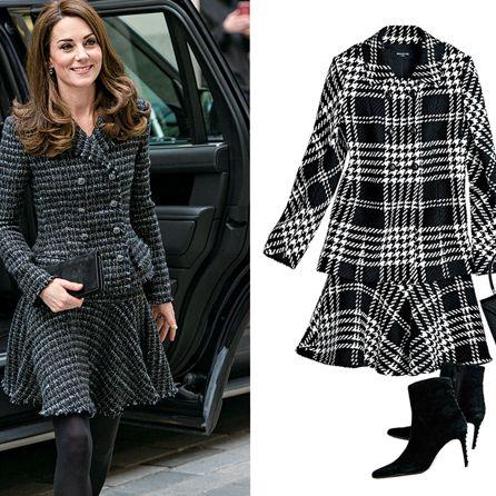 Clothing, Plaid, Outerwear, Overcoat, Coat, Fashion, Street fashion, Tartan, Pattern, Footwear,