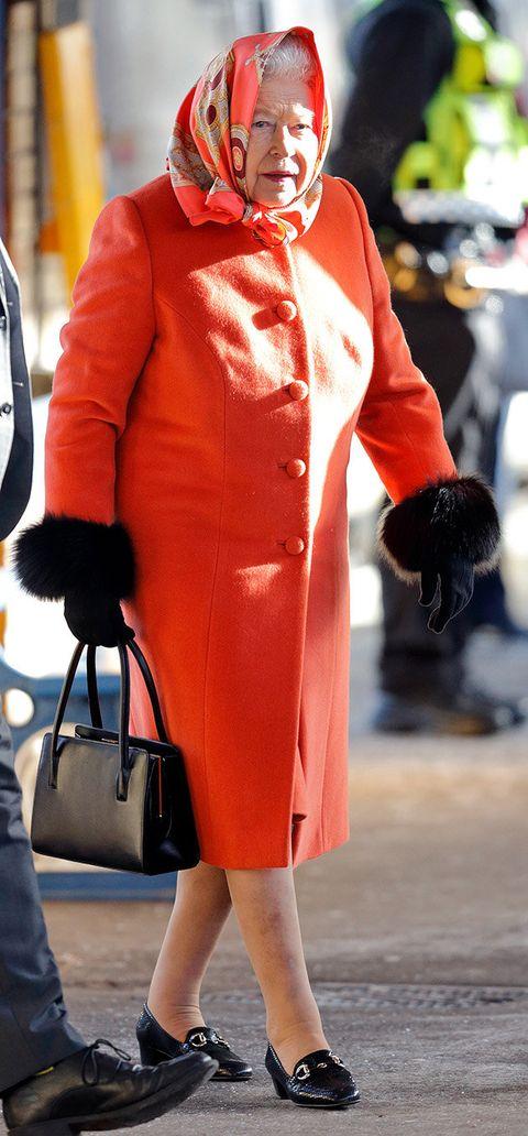 Clothing, Street fashion, Red, Fashion, Orange, Snapshot, Footwear, Outerwear, Coat, Shoe,