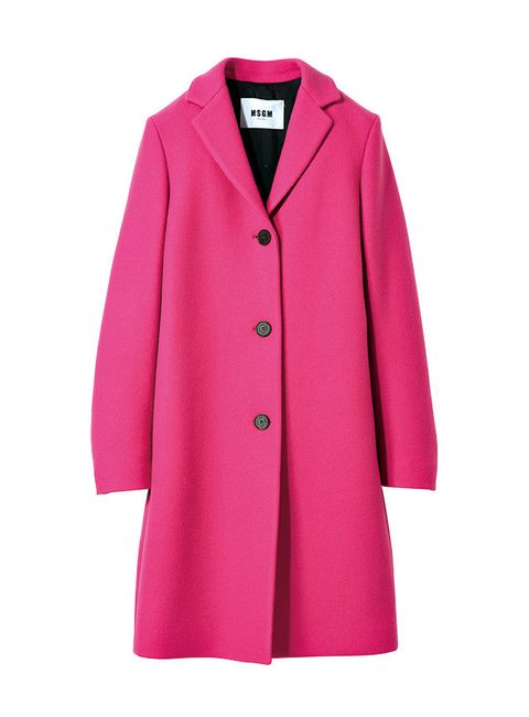 Clothing, Outerwear, Coat, Pink, Sleeve, Overcoat, Magenta, Collar, Button, Trench coat,