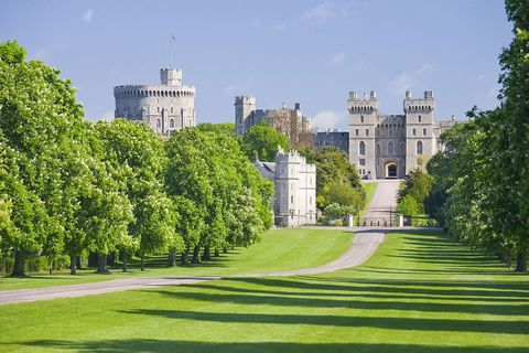 Green, Building, Tree, Estate, Castle, Grass, Lawn, Château, Palace, House,