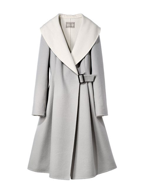 Clothing, Coat, White, Outerwear, Trench coat, Collar, Overcoat, Sleeve, Robe, Dress,