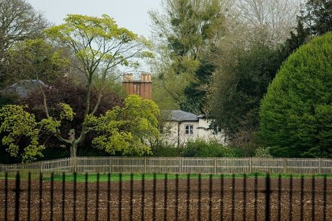 Tree, Fence, Natural landscape, Property, House, Spring, Botany, Woody plant, Architecture, Grass,