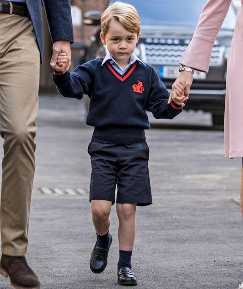 Clothing, Child, Uniform, Standing, Toddler, Human, Footwear, School uniform, Walking, Gesture,