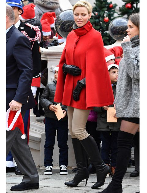 Clothing, Red, Street fashion, Fashion, Footwear, Joint, Outerwear, Leg, Knee-high boot, Thigh,