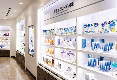 Product, Building, Retail, Shelf, Pharmacy, Prescription drug, Medical, Display case, Interior design, Service,
