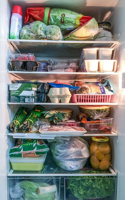 Food, Freezer, Food storage containers, Food group, Food storage, Produce, Refrigerator, Major appliance, Shelving, Kitchen appliance,