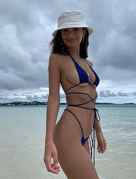 Bikini, Clothing, Swimwear, Undergarment, Lingerie, Swimsuit bottom, Swimsuit top, Beauty, Model, Vacation,