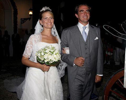 Bride, Wedding dress, Gown, Ceremony, Marriage, Facial expression, Dress, Wedding, Formal wear, Bridal clothing,