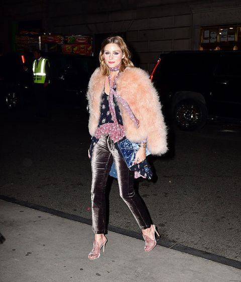 Fur, Clothing, Pink, Fashion, Street fashion, Fur clothing, Leg, Textile, Footwear, Outerwear,