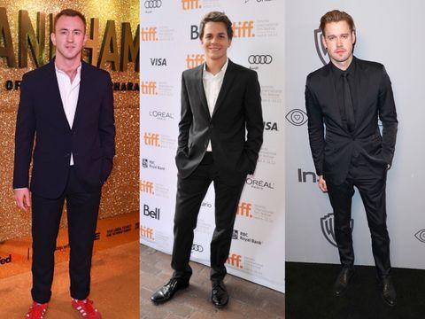 Suit, Formal wear, Tuxedo, Footwear, Carpet, Blazer, Event, Outerwear, White-collar worker, Shoe,