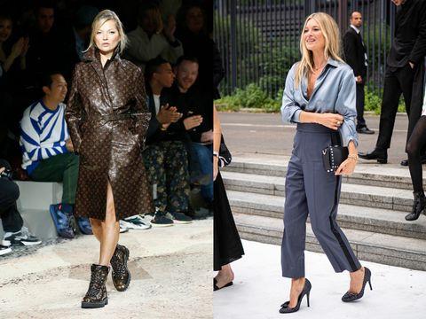 Fashion model, Fashion, Clothing, Street fashion, Footwear, Fashion show, Shoe, Jeans, Denim, Leather,
