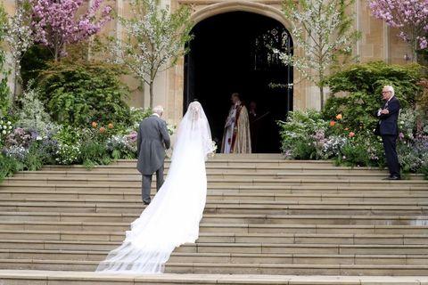 Photograph, Dress, Veil, Bride, Aisle, Wedding dress, Ceremony, Gown, Wedding, Bridal accessory,