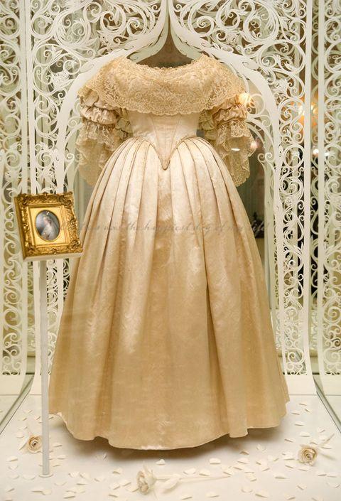 Clothing, Dress, Gown, Victorian fashion, Fashion, Bridal party dress, Wedding dress, Costume design, Outerwear, Bridal clothing,