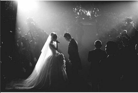 Photograph, Black, Black-and-white, Bride, Dress, Monochrome photography, Snapshot, Photography, Wedding, Wedding dress,