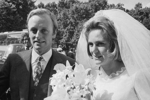Photograph, Bride, Facial expression, Wedding dress, Veil, Wedding, Ceremony, Bridal clothing, Bridal veil, Monochrome photography,
