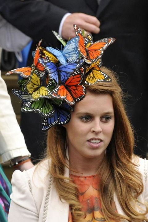 Clothing, Monarch butterfly, Butterfly, Headpiece, Fashion, Headgear, Hat, Fashion accessory, Hair accessory, Witch hat,