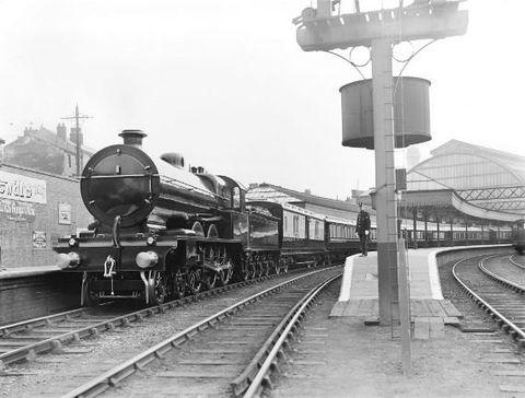 Transport, Railway, Track, Rolling stock, Train, Locomotive, Mode of transport, Steam engine, Train station, Vehicle,