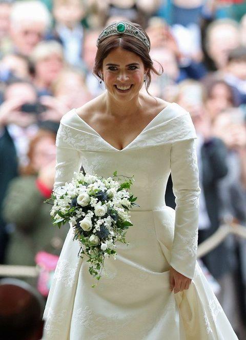 Gown, Dress, Bride, Clothing, Wedding dress, Bridal clothing, Headpiece, Ceremony, Hair accessory, Fashion,