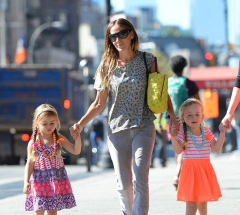 Clothing, Hair, Face, Eyewear, Arm, Trousers, Jeans, Child, Sunglasses, Pink,