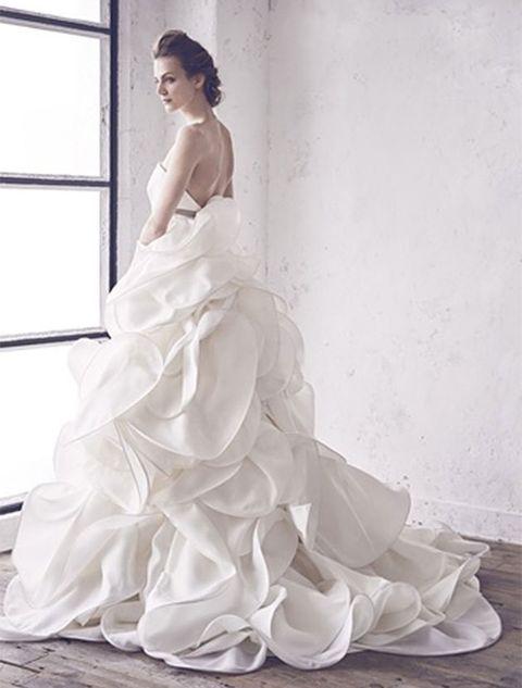 Gown, Wedding dress, Dress, Clothing, Bride, Bridal clothing, Photograph, Bridal party dress, Fashion model, Bridal accessory,