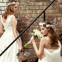 Clothing, Dress, Bridal clothing, Petal, Trousers, Shoulder, Wedding dress, Photograph, Bridal accessory, Bride,