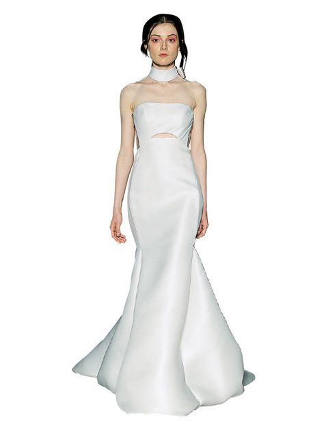 Gown, Clothing, Dress, Fashion model, Wedding dress, Bridal party dress, Shoulder, Bridal clothing, Haute couture, Formal wear,