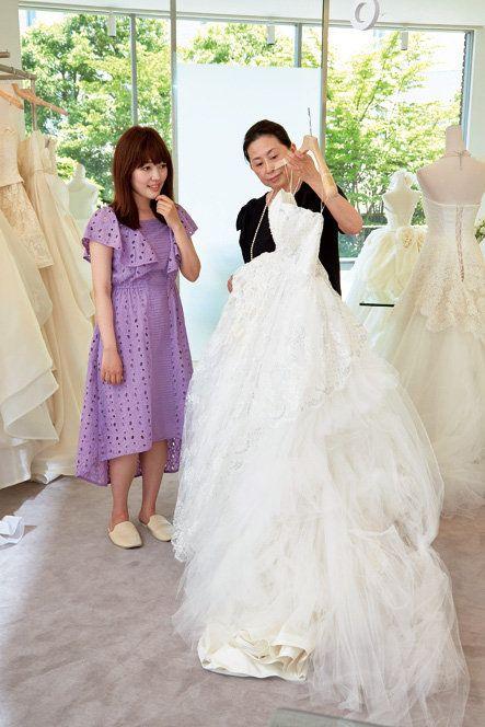 Wedding dress, Dress, Gown, Photograph, Clothing, Shoulder, Bridal clothing, Bride, Bridal party dress, Ceremony,